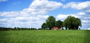 Ein Bauernhof im Süden Schwedens in Schweden