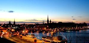 Stockholm bei Nacht in Schweden