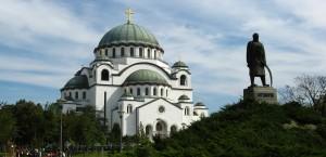 Die Sveti Sava Kathedrale in Belgrad in Serbien