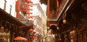 Die Altstadt in Shanghai, China in Shanghai