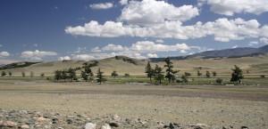 Landschaft in der Region Tuva, Südsibirien in Sibirien