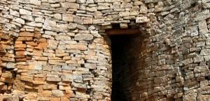 Die Steinruinen von Great Zimbabwe in Simbabwe
