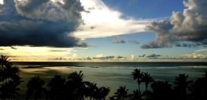 Sonnenuntergang am Strand von Guam in Guam