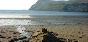 Der Strand von Port Erin auf der Insel Man in Isle of Man