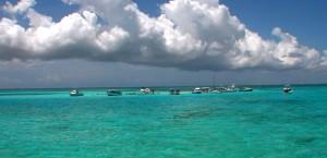 Strand von Stingray City auf den Kaimaninseln in Kaimaninseln