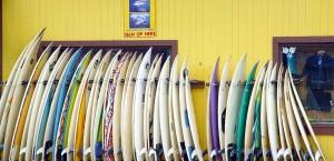 Ein klassischer Surf-Shop auf Oahu, Hawaii in Hawaii