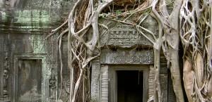 EIn Teil der Tempelruinen von Angkor Vat in Kambodscha in Kambodscha