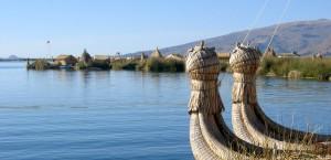 Der Titicacasee in Bolivien in Bolivien