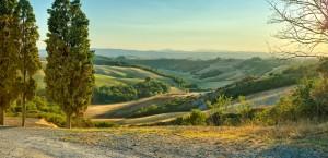 Typische Landschaft der Toskana in Italien in Italien