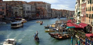 Der Canal Grande in Venedig, Italien in Italien