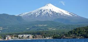 Der Vulkan Villarrica in Chile in Chile