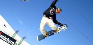 Wintersport in den Alpen in Schweiz
