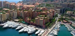 Der Yachthafen in Monaco in Monaco
